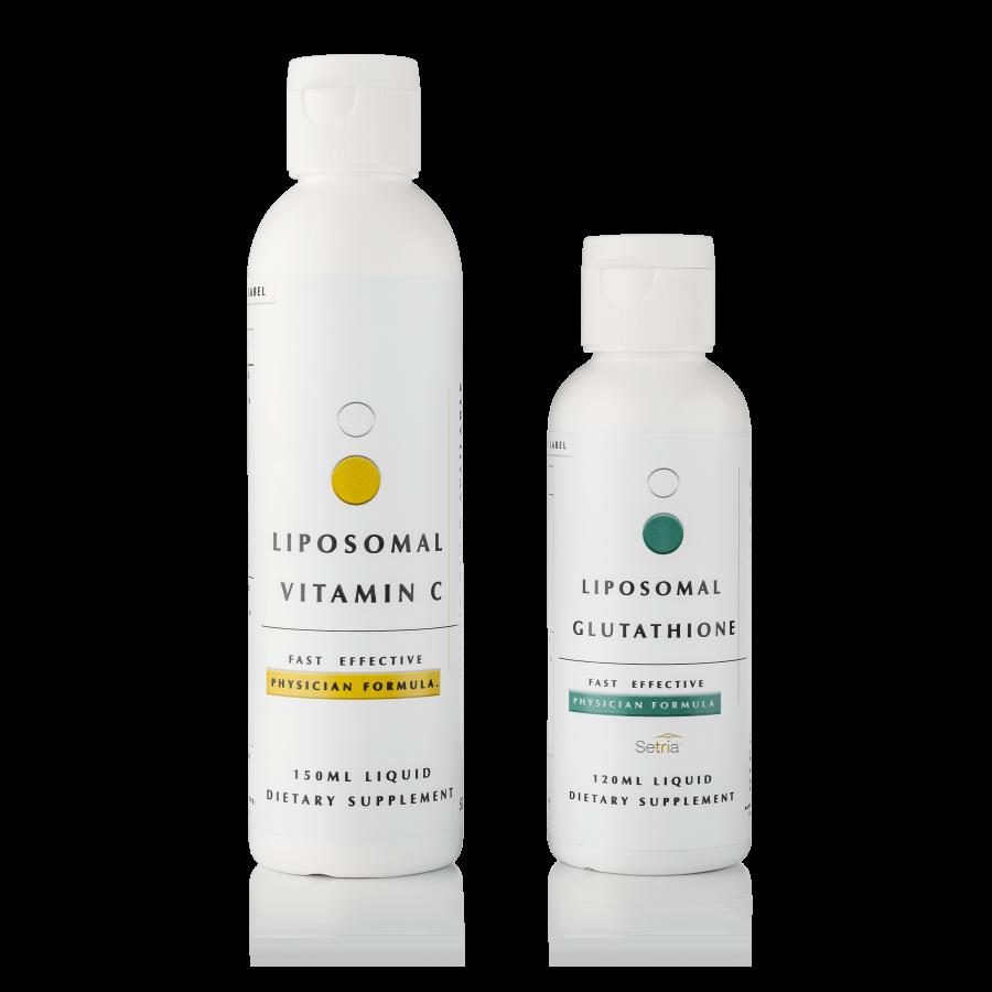 Shcglutathione liposomal glutathione and liposomal vitamin c skin lightening